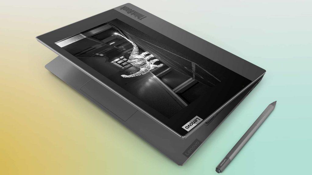 Novità Lenovo al CES di Las Vegas: ThinkPad X1 Fold pieghevole, Yoga con connettività 5G e ThinkBook Plus con display e-ink 8