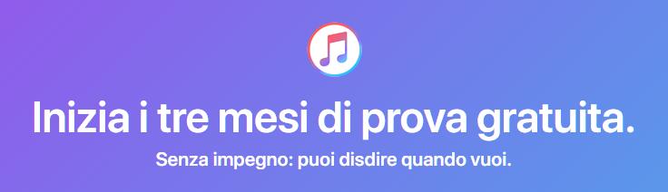 Apple Music prova gratuita