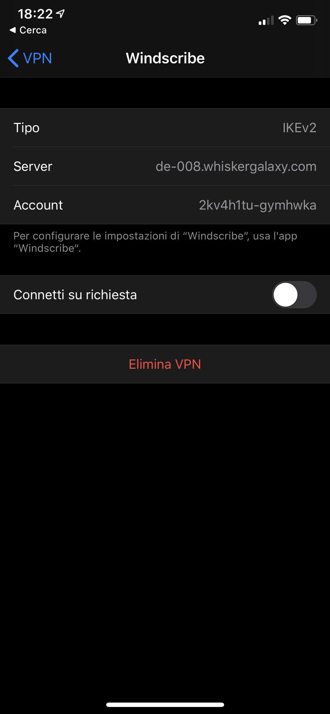 Come rimuovere un profilo VPN da un iPhone o iPad 5