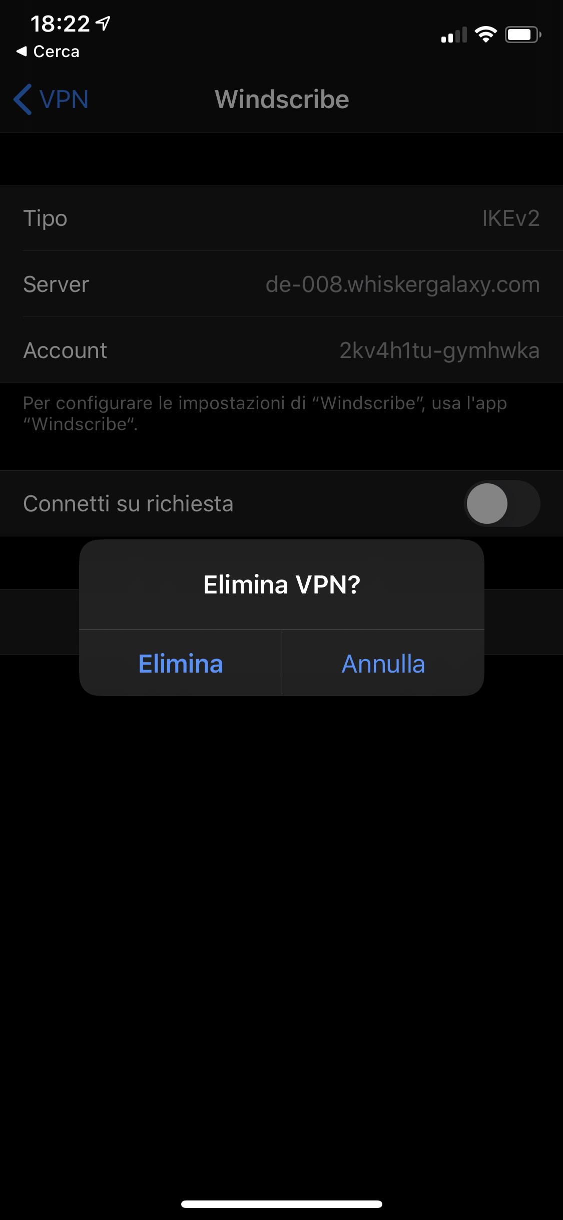 Come rimuovere un profilo VPN da un iPhone o iPad 6