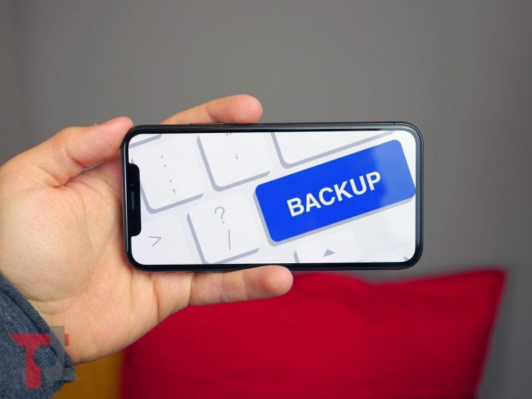 come eseguire il backup dei dati su iPhone