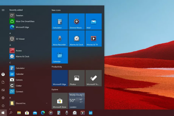Nuove icone Windows 10