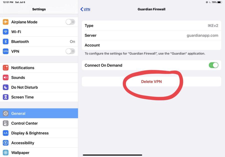 Come rimuovere un profilo VPN da un iPhone o iPad 9