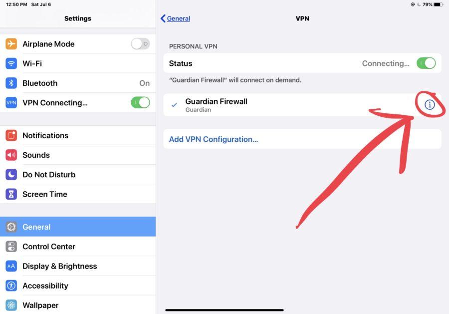 Come rimuovere un profilo VPN da un iPhone o iPad 8