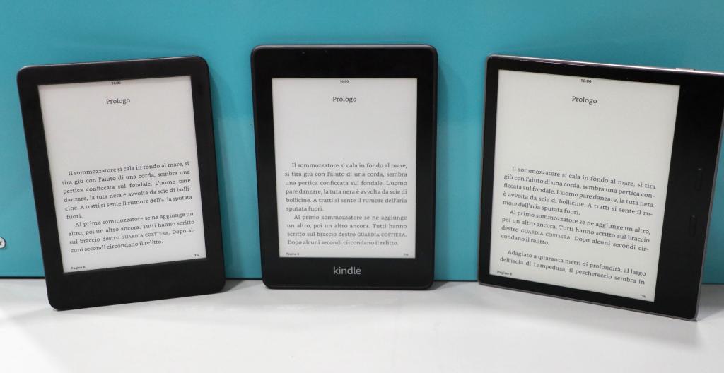 Amazon Kindle vs Paperwhite vs Oasis - Confronto