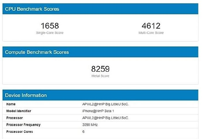 Apple A14 Geekbench