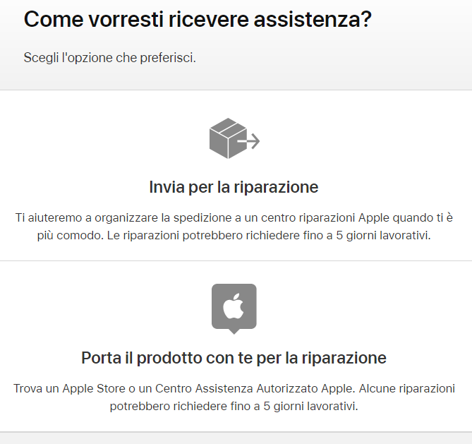 Come contattare Assistenza Apple Store difetto