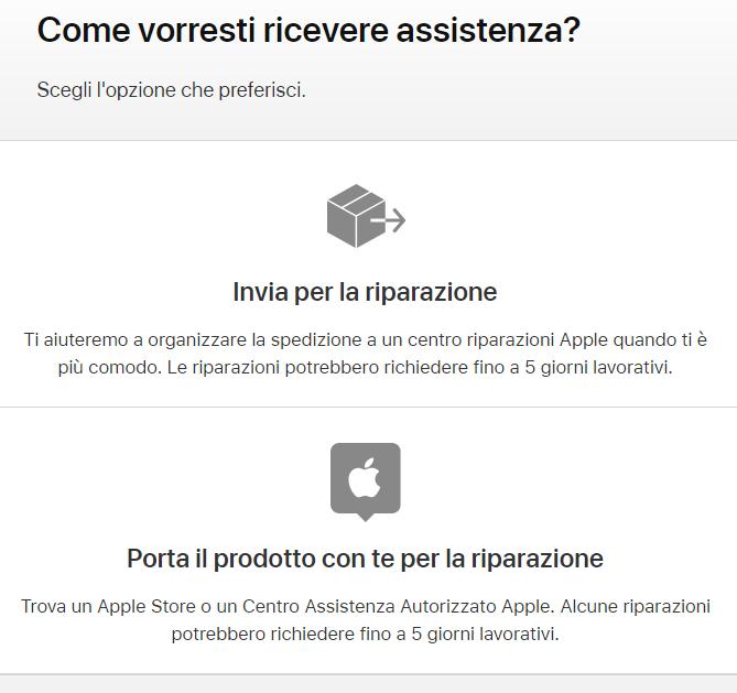 Come contattare Assistenza Apple Store difetto
