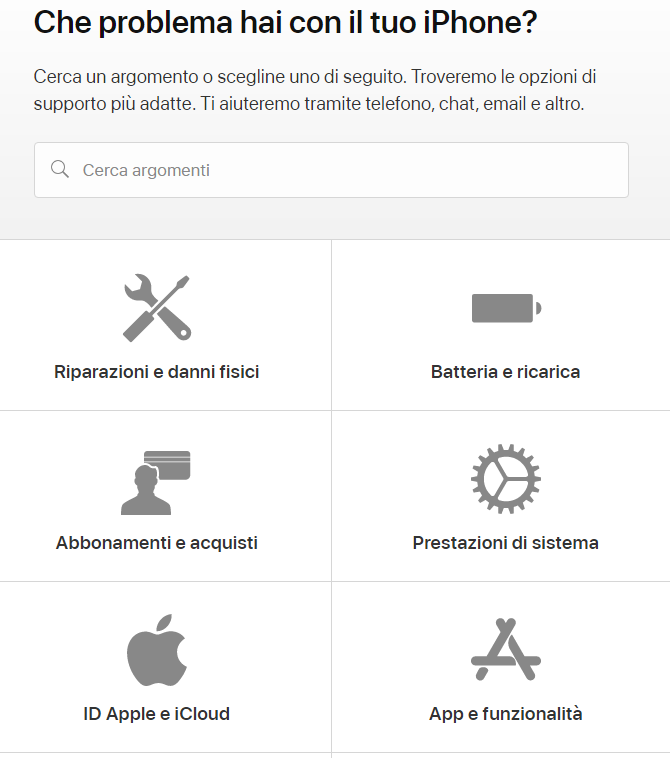 Come contattare Assistenza Apple Store problema