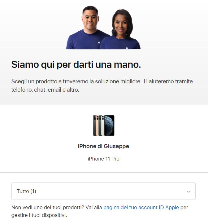 Come contattare Assistenza Apple Store