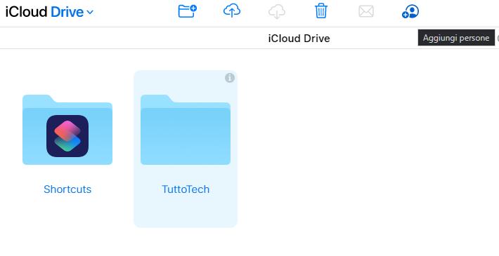 Come convividere cartelle su iCloud