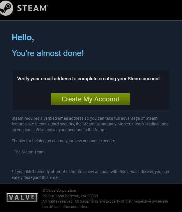 Come creare un account su Steam verifica email attivazione