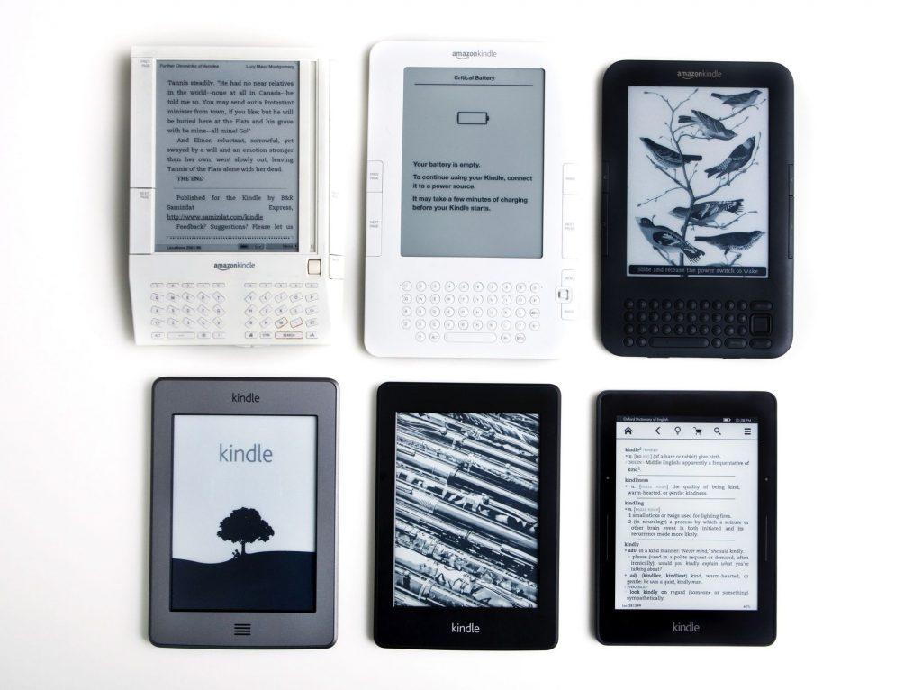 Evoluzione di Amazon Kindle nel corso degli anni