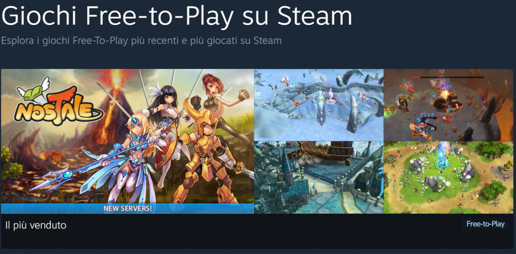 Giochi Free to Play Steam