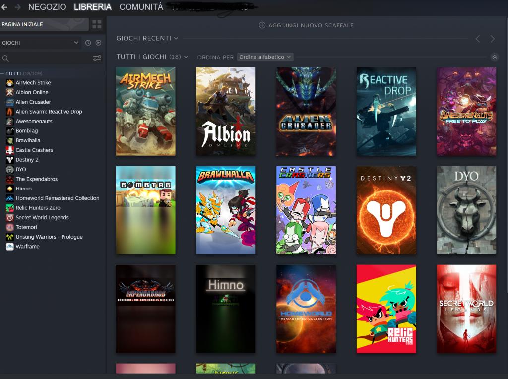 Libreria Steam