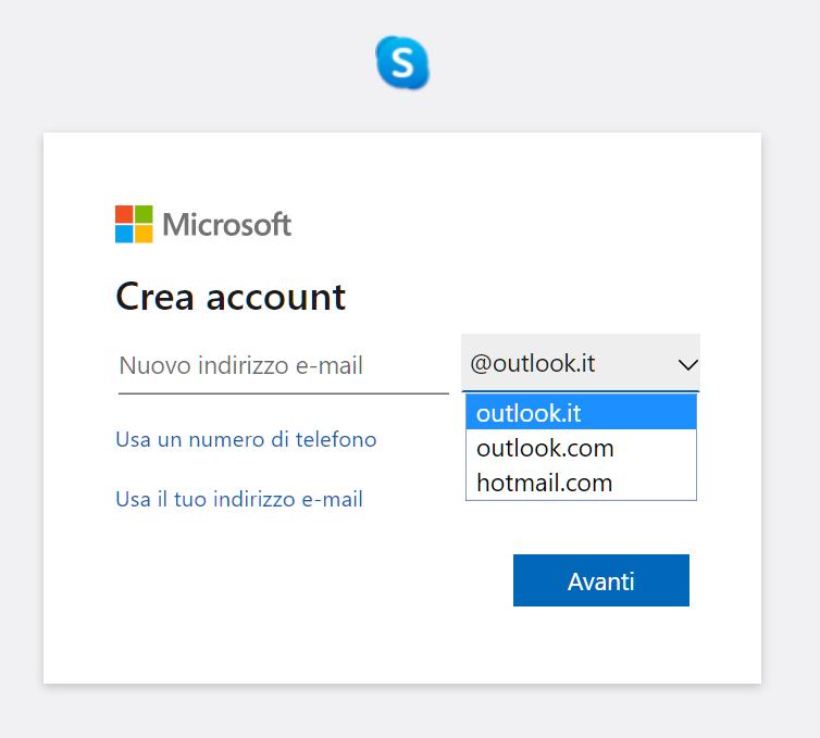 come creare un account email microsoft