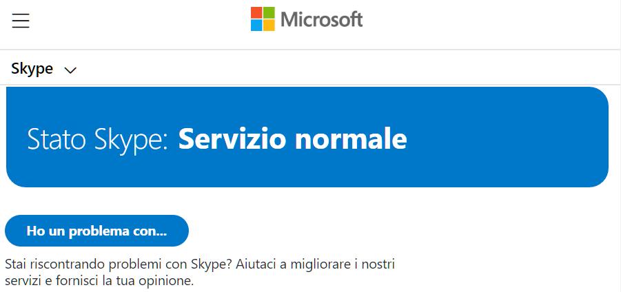 Controllare lo stato del servizio Skype in caso di malfunzionamento se Skype non funziona