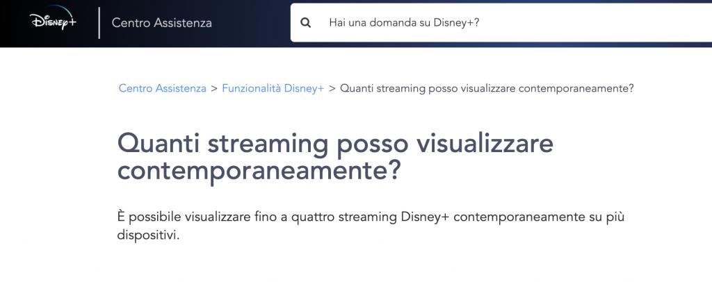 Disney+: ecco quanti profili e streaming contemporanei sono possibili 1
