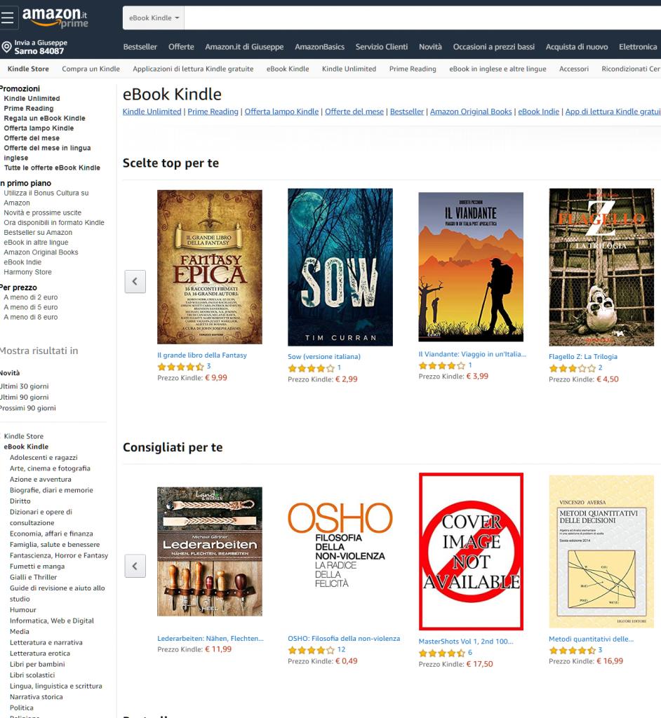ebook kindle su Amazon