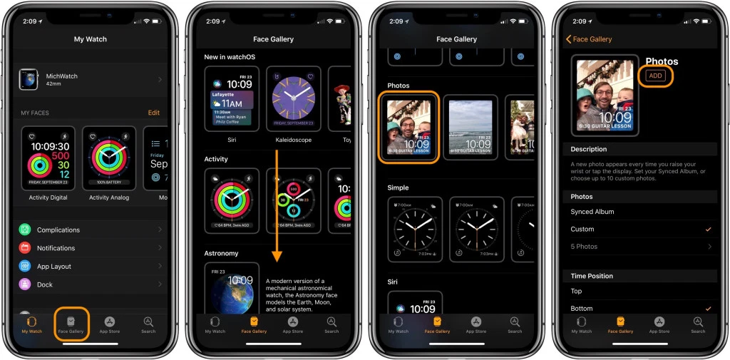 quadranti watchOS 7