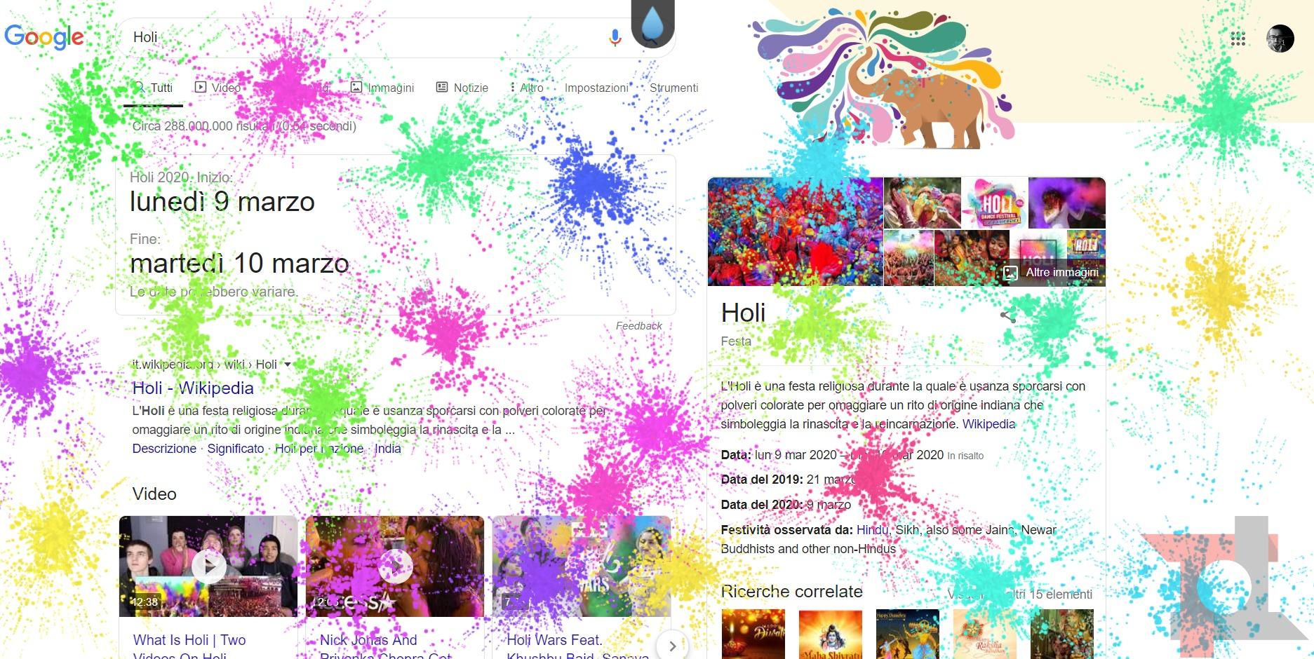 Google celebra Holi con un easter egg che è un'esplosione di colori 1