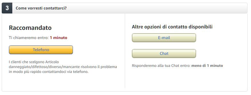 servizio clienti Amazon Prime Now