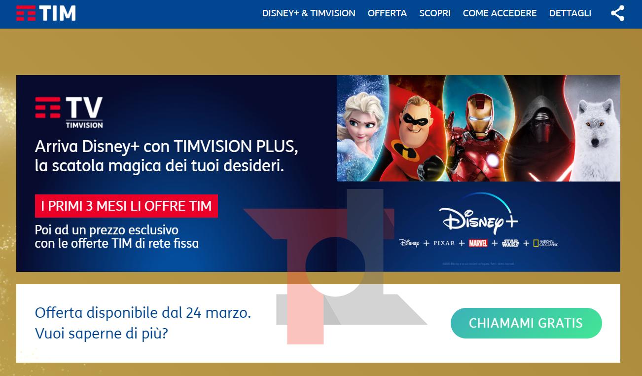 Disney + sta arrivando: Come accedere al servizio con TIM