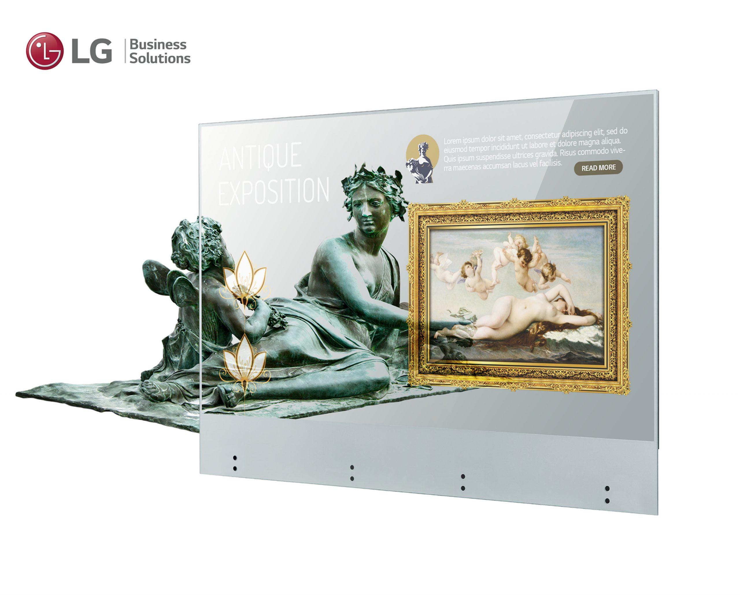 LG OLED Transparent Touch ufficiale: il futuro del digital signage passa da qui 1