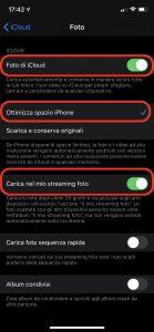 Come caricare foto su iCloud iphone