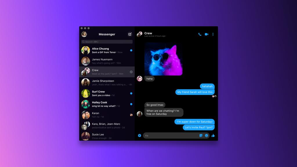 nuova app Facebook Messenger