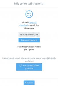 Come creare un link Filemail