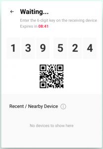 Come trasferire file direct Send Anywhere codice QR code