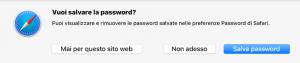 come salvare le password nel portachiavi