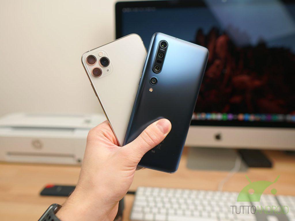 Confronto Xiaomi Mi 10 Pro vs iPhone 11 Pro Max