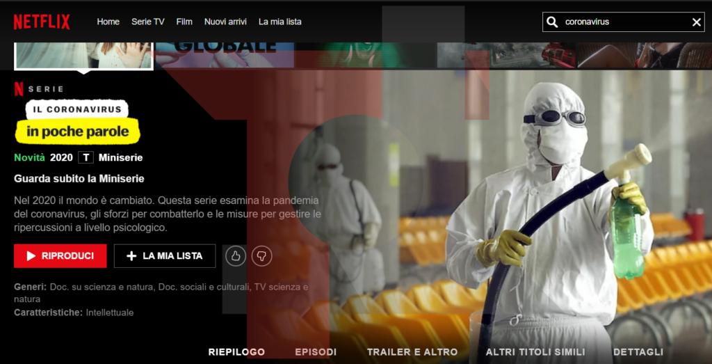 """""""Il Coronavirus in poche parole"""", da oggi disponibile su Netflix la nuova serie 1"""