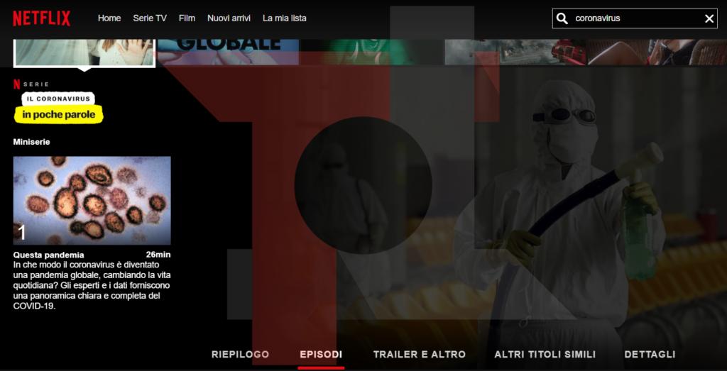 """""""Il Coronavirus in poche parole"""", da oggi disponibile su Netflix la nuova serie 2"""