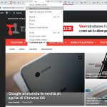 Google Chrome gruppi schede