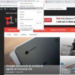 Google Chrome gruppi schede