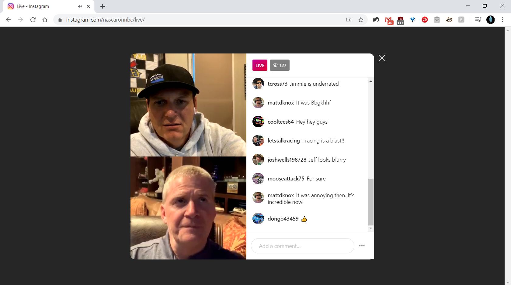 Instagram live Web