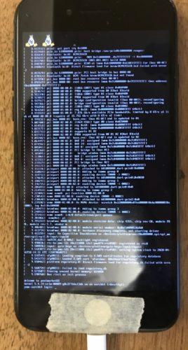iPhone 7 postmarketOS