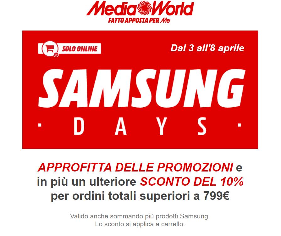 mediaworld samsung days