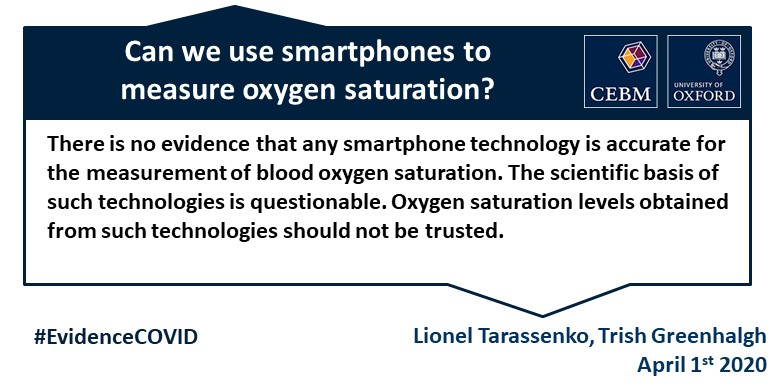 smartphone livello ossigeno