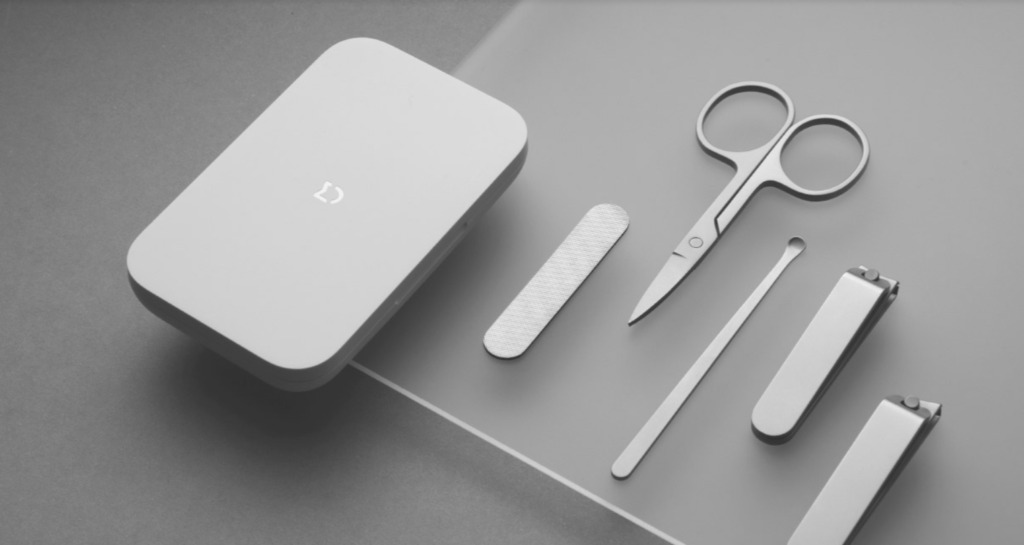 xiaomi mijia sonic facial cleanser 5 piece set nail clipper