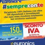 """volantino """"Euronics è #sempreconte"""""""