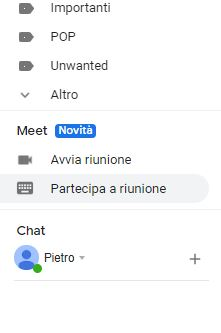 Google Meet su Gmail