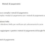 Google Chrome Windows Hello carte