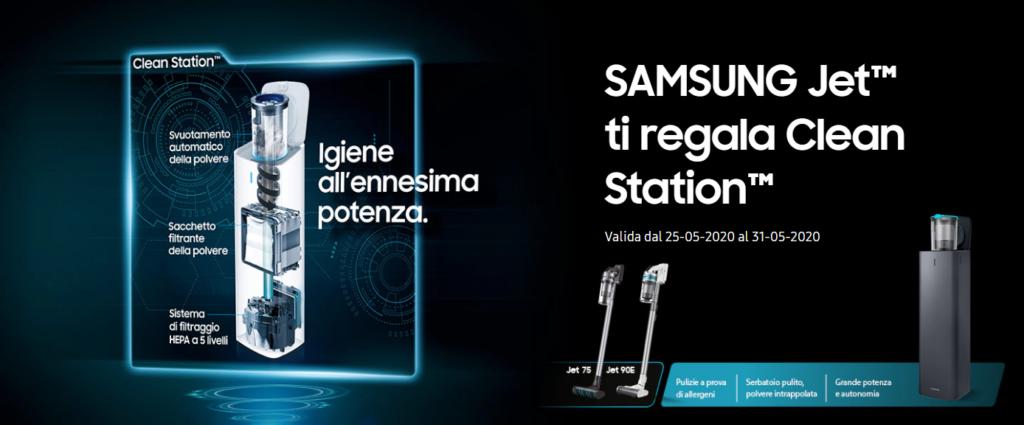 Samsung Jet offerta Clean Station