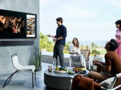 Samsung QLED TV Terrace