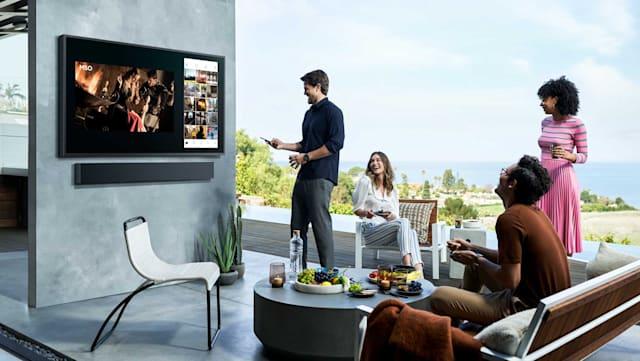 Samsung QLED TV Terrace