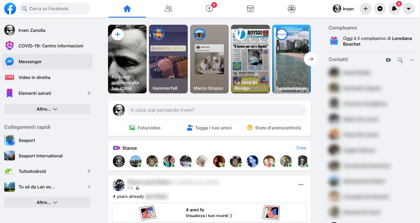 La nuova interfaccia web di Facebook è ora in rollout per tutti 1